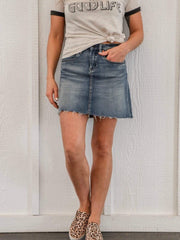 Blank NYC denim skirt