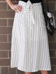 midi striped skirt