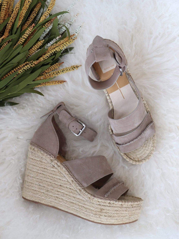dolce vita suede wedge