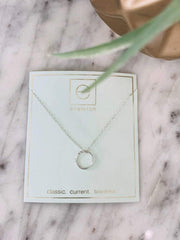 enewton silver halo necklace