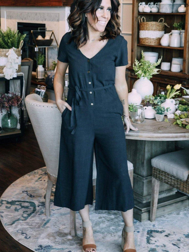 Grade & Gather Navy Jumpsuit