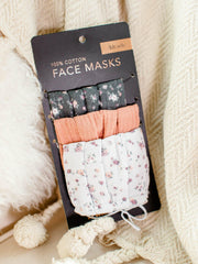 Printed Floral Face Masks