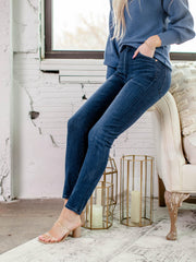 Chrissy High Rise Dark Wash Denim
