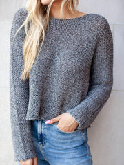 Side Slit Knit Sweater