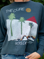 The Cure Boys Don't Cry Oversized Long Sleeve Crop