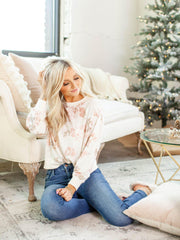 Floral Long Sleeve Pullover