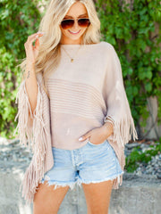 gentle fawn fringe poncho