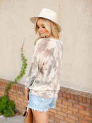 Vintage Tie-Dye Long Sleeve Top
