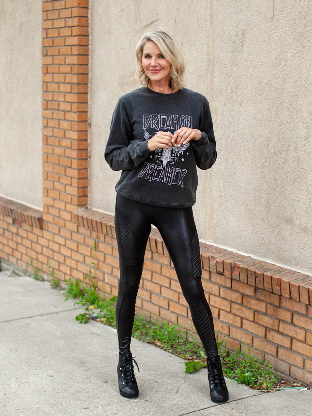 SPANX Faux Leather Moto Inspired Leggings