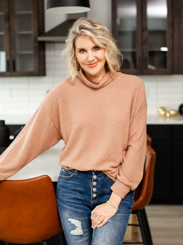 Socialite Dropped Shoulder Turtle Neck Sweater