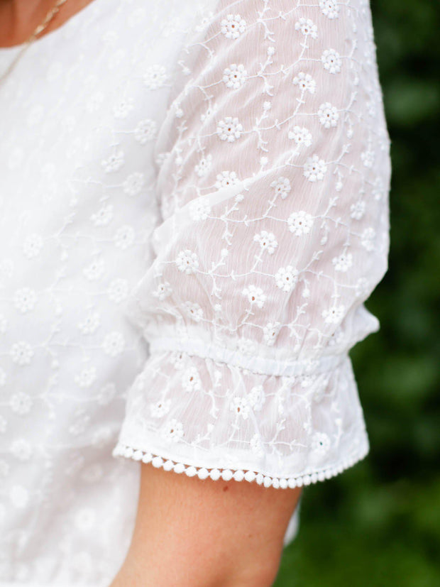 Chiffon Cloud Nine Embroidered Blouse
