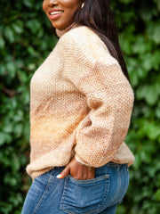 Ombre Knit Turtleneck Sweater