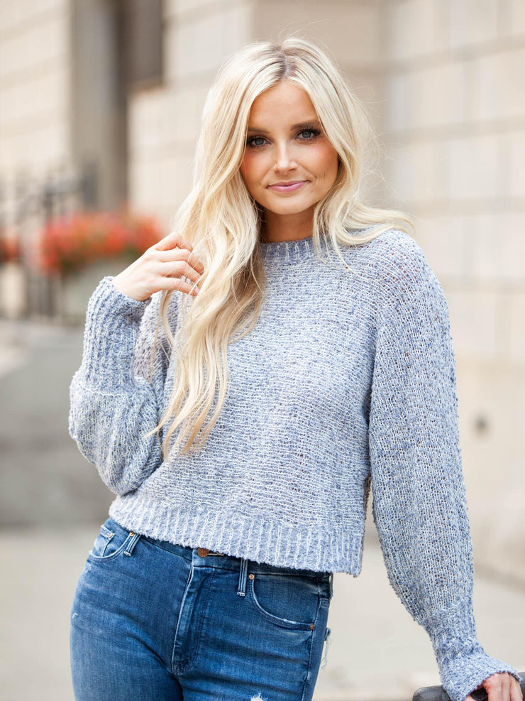 Chunky Textured Yarn Knit Sweater