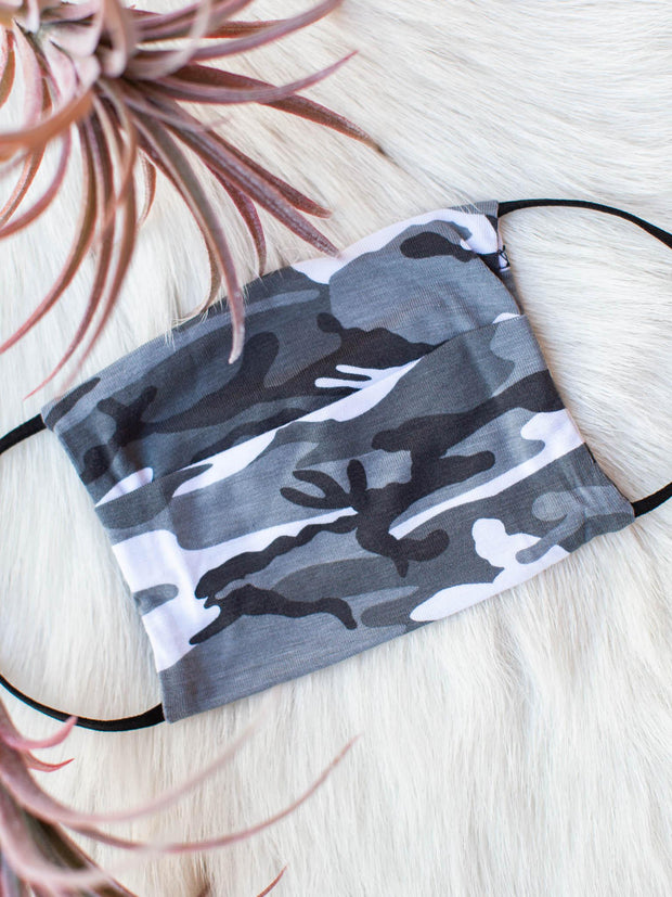 Youth Camo Print Face Mask