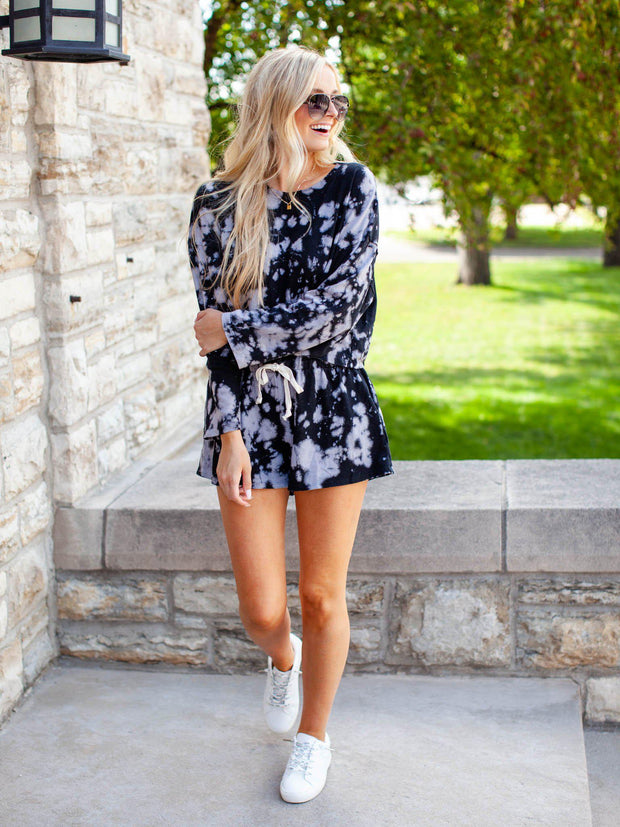 Tie-Dye Printed Soft Shorts
