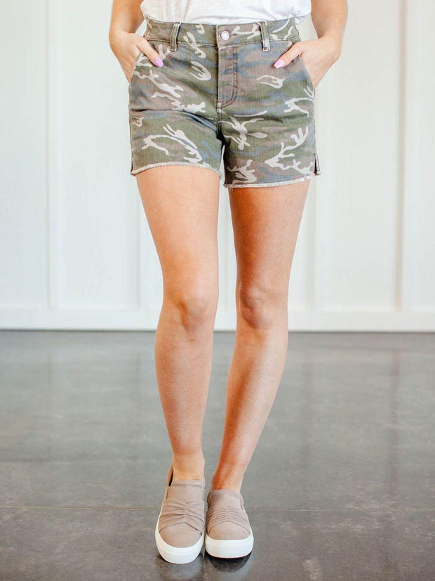 Level 99 Trouser Inspired Camo Shorts
