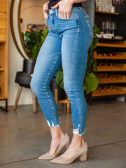 Flying Monkey High Rise Ankle Distressed Denim