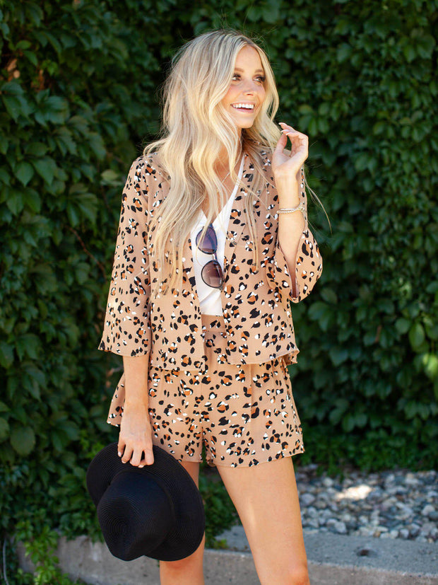 Saltwater Luxe Spotted Leopard Print Short