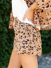 Saltwater Luxe Pull on Leopard Shorts