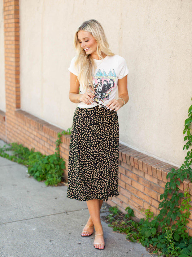 Sanctuary Leopard Print Skirt