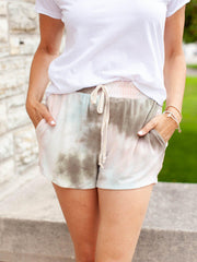 Tie Dye Relax Fit Drawstring Short