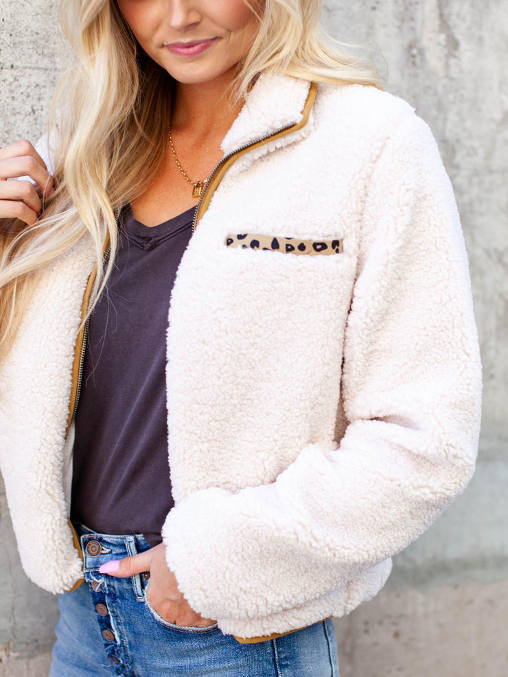 Thread & Supply Faux Sherpa Cozy Jacket