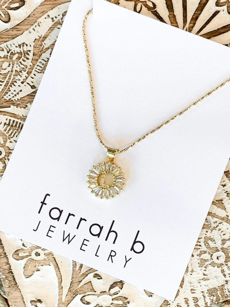 Farrah B Initial Necklace