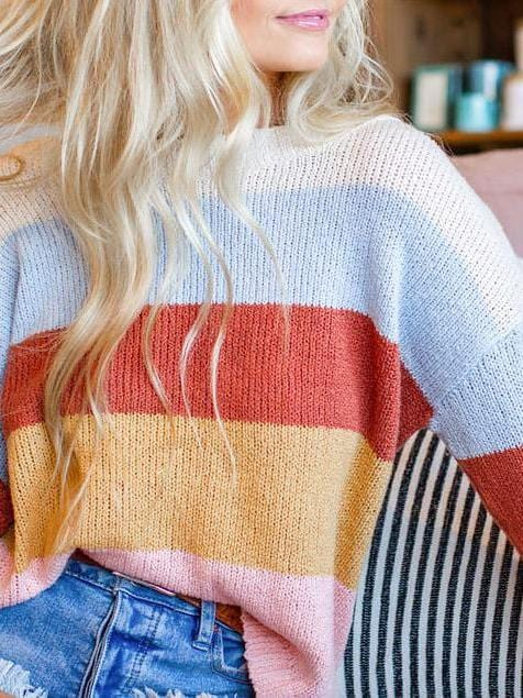 billabong striped sweater