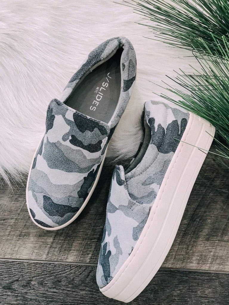J Slides Footwear Grey Camo / 6 / Harry JSLIDES Harry Camo Suede Sneak