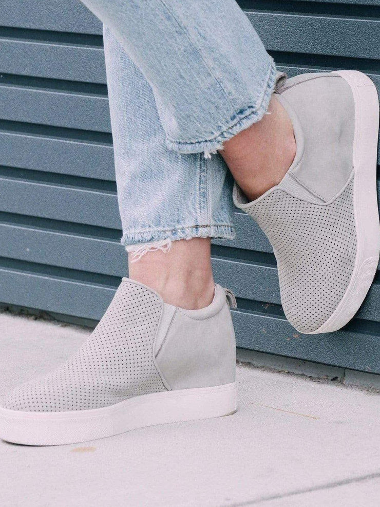 J Slide grey sneaker wedge