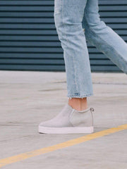 light grey sneaker wedge