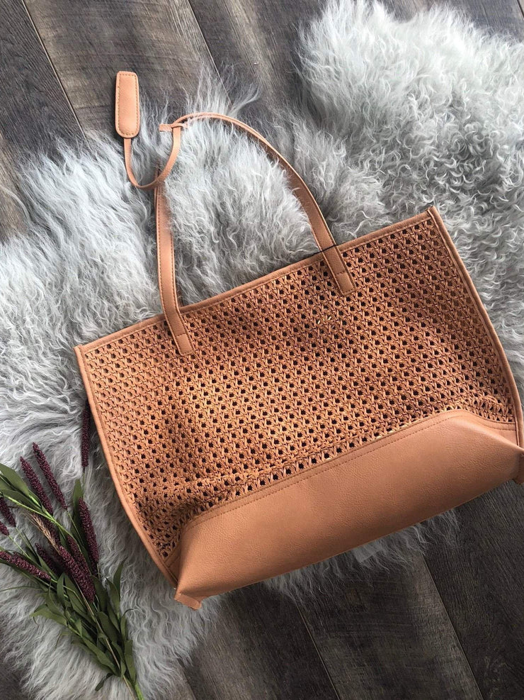 Joia Handbags Open Weave Tote