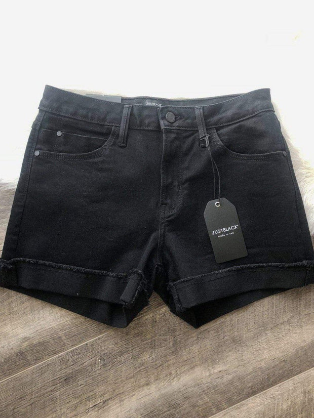 Just Black Denim Shorts/Skirts Just Black Boy Fit Cuff Short