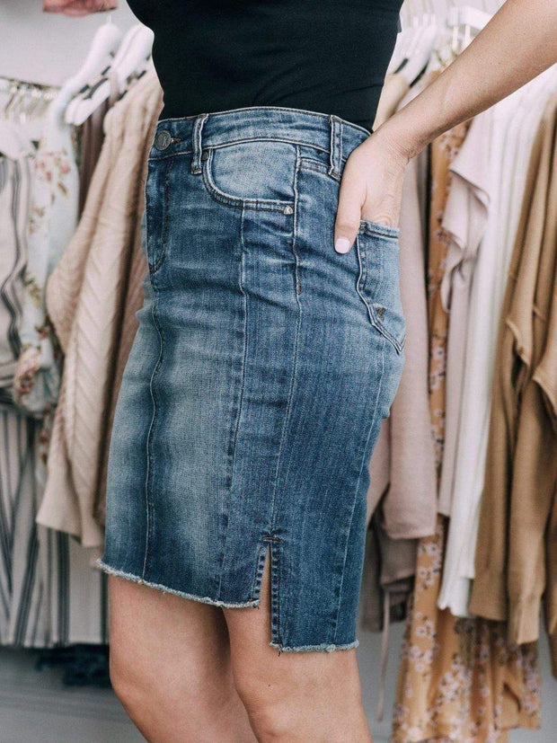 KUT from the Kloth Denim Shorts/Skirts KUT Connie Step Hem Skirt