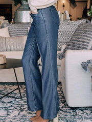 Level 99 Denim jeans Level 99 Janelle 5 Pocket Mid Rise Wide Leg