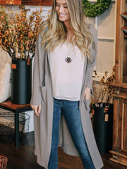 Loveriche Cardigans Thermal Hood Duster Cardigan
