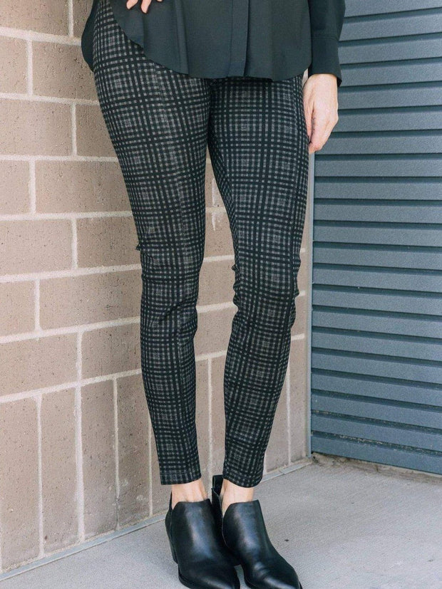 LYSSE Non-Denim bottoms Lysse Center Seam Charcoal Check