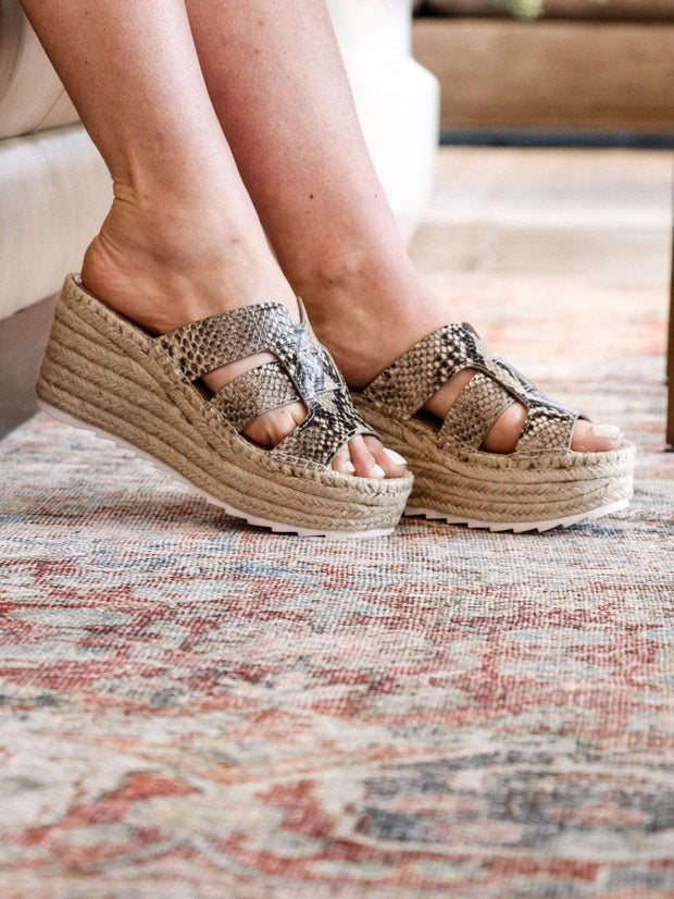 Marc Fisher Robyn Snake Espadrille