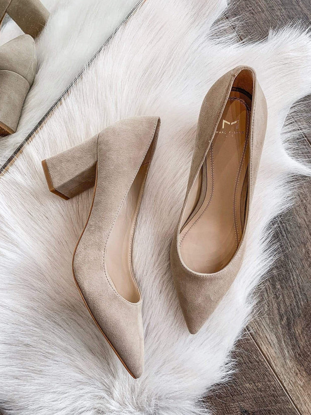 Marc Fisher Tan Suede Pump