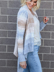 open front drape front cardigan