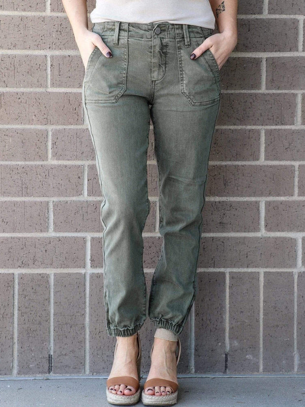 olive jogger casual bottoms