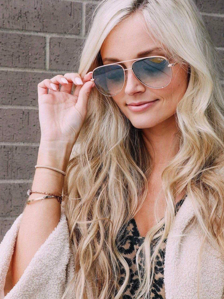 Quay Black Fade Lens Aviator Sunglasses