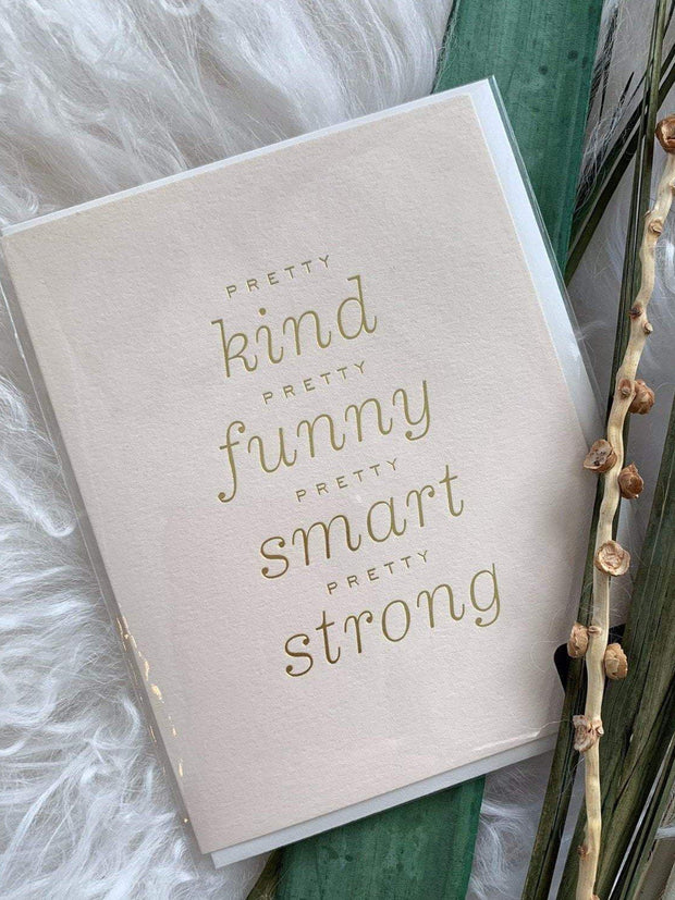 Smitten On Paper Paper products Pretty Kind Greeting Card