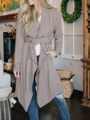 Thread and Supply Outerwear Emrata Drape Belted Trench