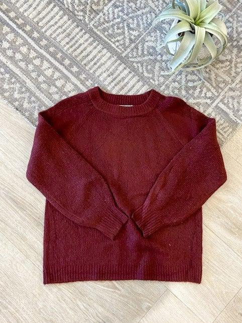 Crew Neck Raglan Pullover Sweater