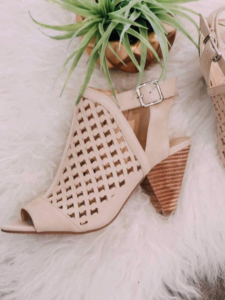 vince camuto laser cut out sandal