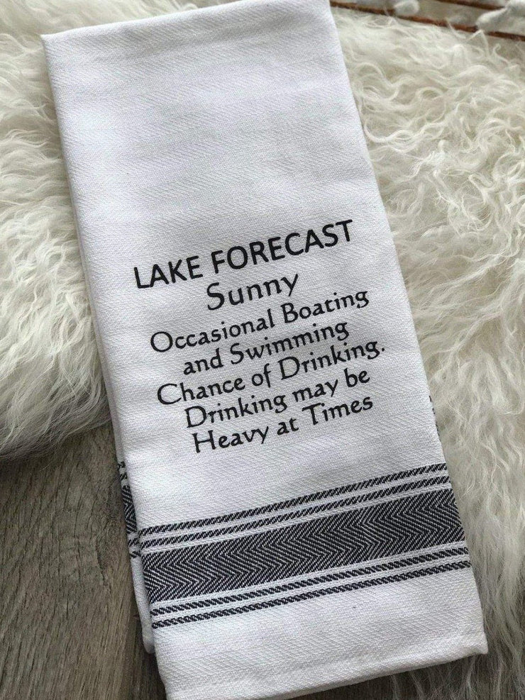 Wild Hare Designs Dishtowel Lake Forecast Dish Towel