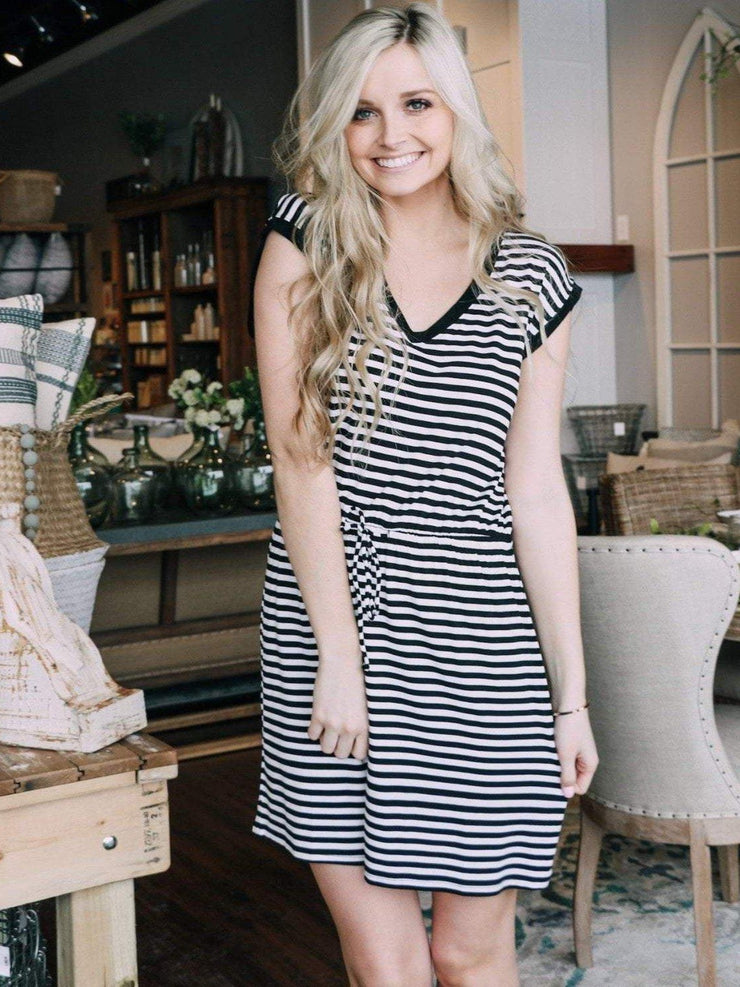 Z Supply Dress Z Supply Striped Shirred Dress