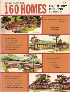 HOME PLANNERS 160 HOMES ONE STORY DESIGNS (1972)