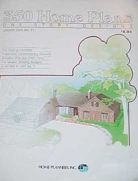 HOME PLANNERS 350 HOME PLANS - 1 STORY DESIGNS 2000 SqFt (1982)